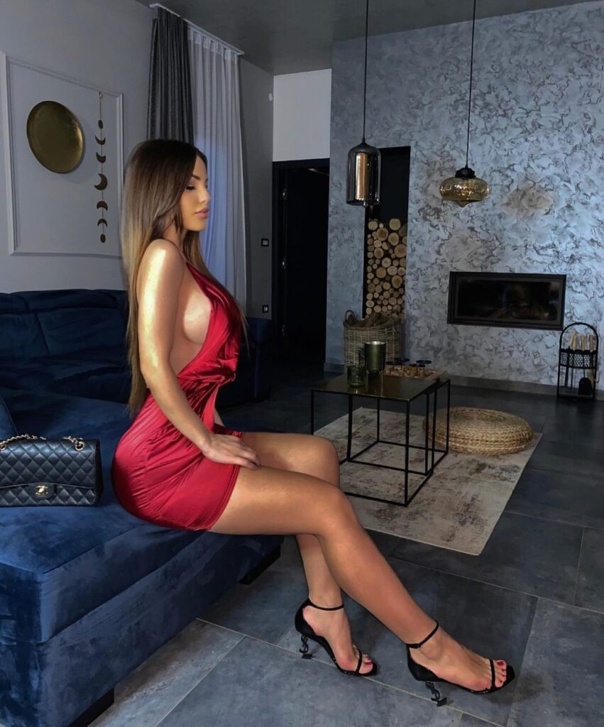European Woman And Red Dress